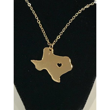 Pendant Texas Salado Heart cut out