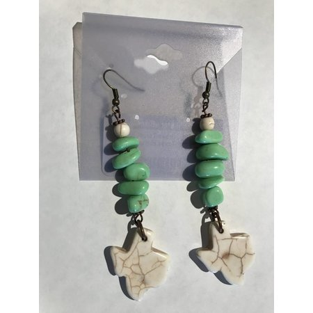 Green Turqouise Texas earrings