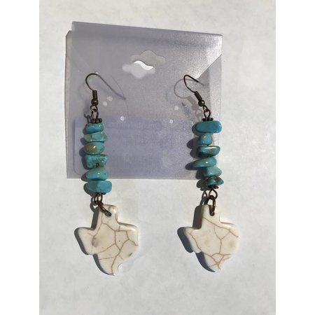 Blue Turquoise Texas Earrings
