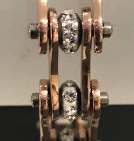 """Bike Chain Bracelet Rose Gold 1/2"""" 7.25"""""""