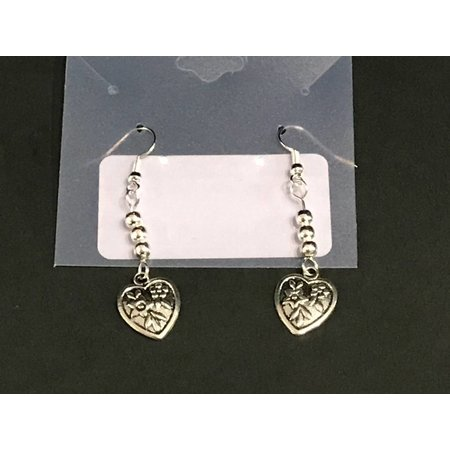 Earrings Heart Drop