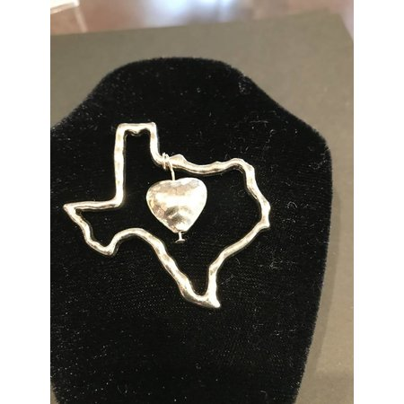 Texas and Heart pendant without chain