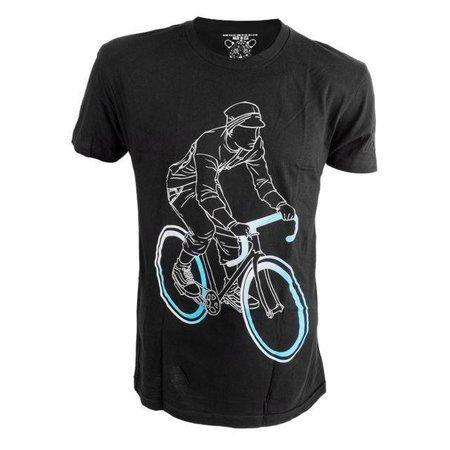 Tron Rider Tshirt Black Large Clockwork Gears