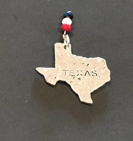 LoneStar Mary Pendant Texas with Red White Blue Crystals