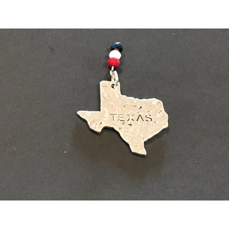 Pendant Texas with Red White Blue Crystals