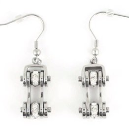 Bike Chain Earrings Stainless