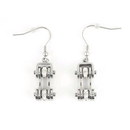 Bike Chain Earrings Stainless