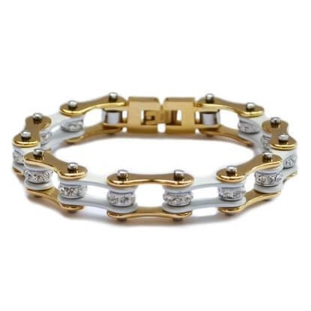 Bike Chain Bracelet Gold and Silver