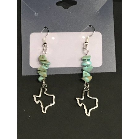 Earrings Texas with Blue Crystals