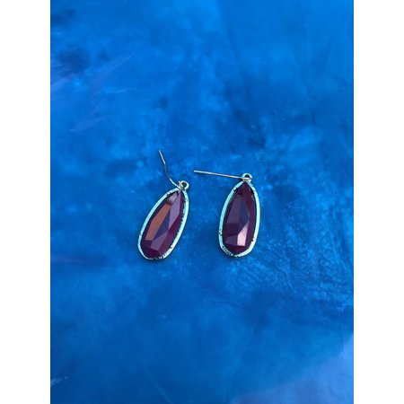 Earrings Red Drop