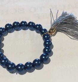LoneStar Mary Bracelet Blue Pearl with Silk Tassle