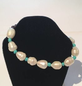 LoneStar Mary Bracelet Baroque Pearl and Turquoise
