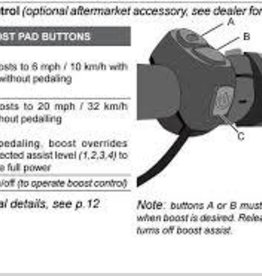 iZip Ebike Boost Button