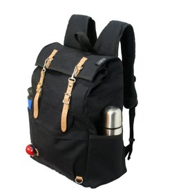 Banjo Brothers Canvas Cycling Rucksack: Black