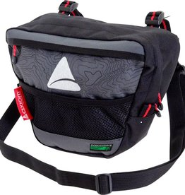 Axiom Axiom Seymour Oceanweave P4 Handlebar Bag: Black/Gray