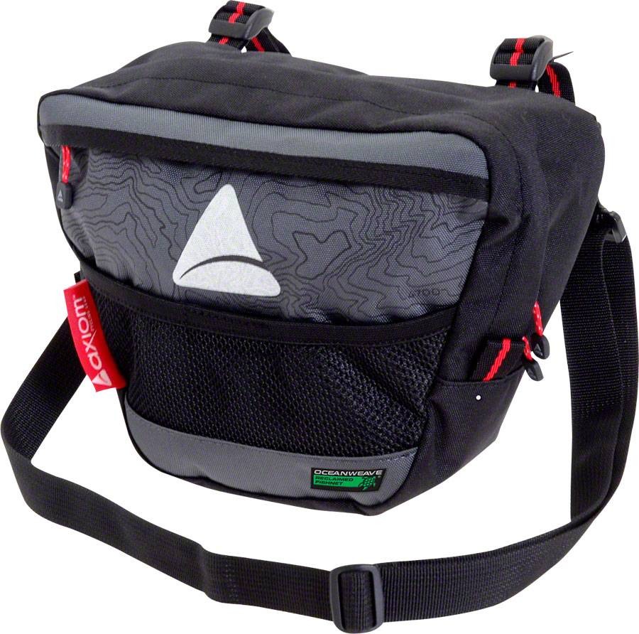 Axiom Seymour Oceanweave P4 Handlebar Bag: Black/Gray