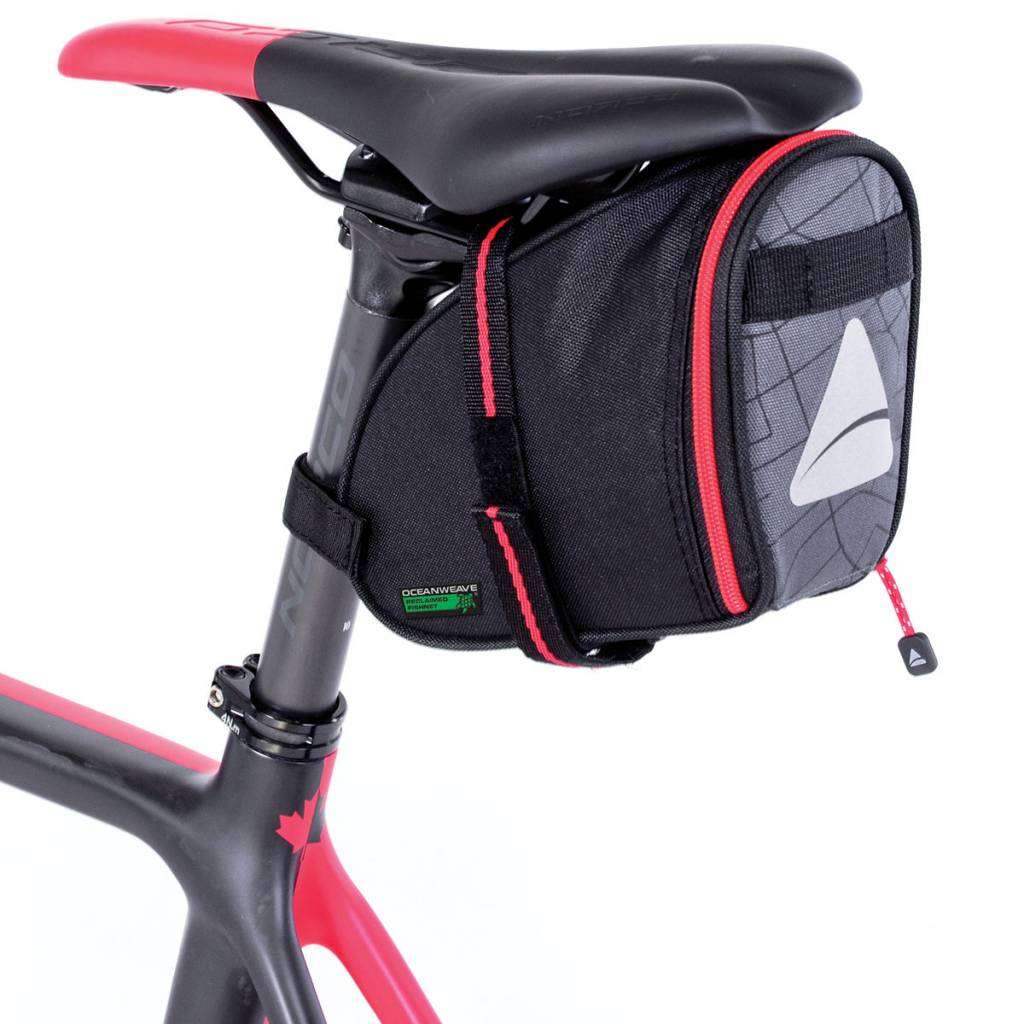 Seymour Oceanweave Wedge 1.3 Saddle Bag: Black