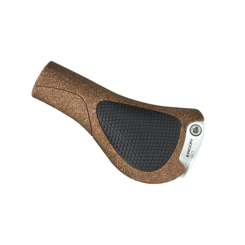 Ergon GC1 BioKork Grips: Black/Tan