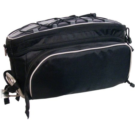 Rack Top Pannier Bag: Black