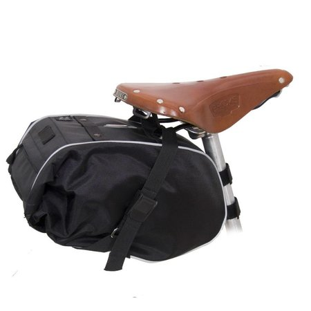 Waterproof Saddle Trunk: Black