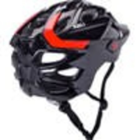 Kali Protectives Chakra Solo Helmet: Neo Black/Red  MD/LG