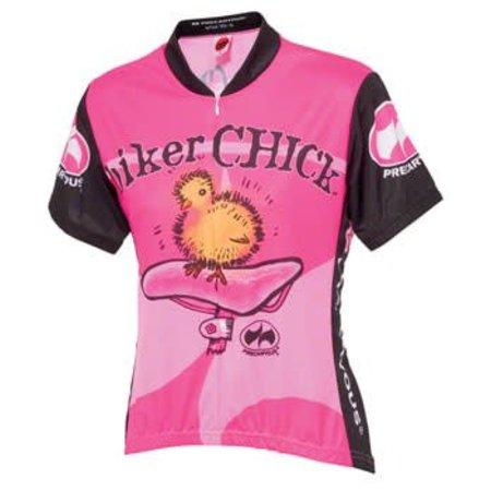 World Jerseys Women's Biker Chick Cycling Jersey Pink XL