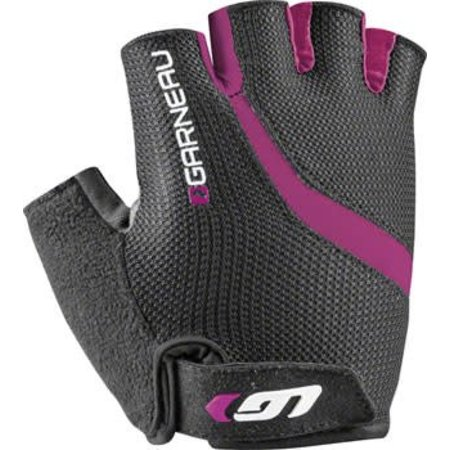 Louis Garneau Biogel RX-V Women's Glove: Black/Fuscia Festival Pink LG