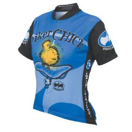 World Jerseys Women's Biker Chick Cycling Jersey Blue MD