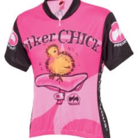 World Jerseys Women's Biker Chick Cycling Jersey Pink SM