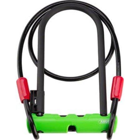 "ABUS Keyed U-Lock Ultra 410 Plus Cobra Cable: 9"" Shackle, Black"