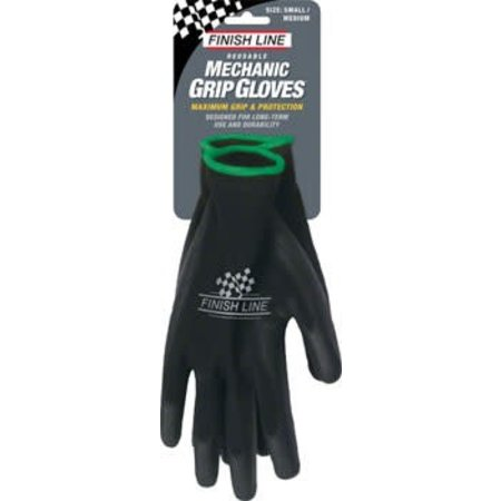 Finish Line Mechanic's Grip Gloves, SM/MD
