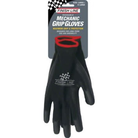 Finish Line Mechanic's Grip Gloves, L/XL