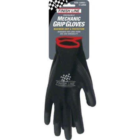 Finish Line Mechanic's Grip Gloves, L/XL