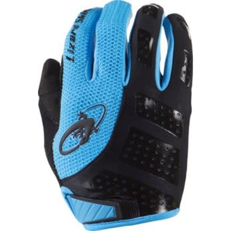 Lizard Skins Monitor SL Gloves: Jet Black/Electric Blue MD