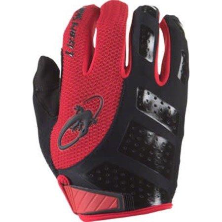 Lizard Skins Monitor SL Gloves: Jet Black/Crimson MD