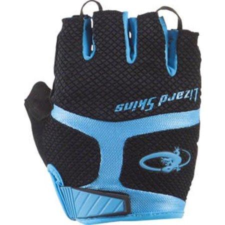 Lizard Skins Aramus GC Gloves: Jet Black/Electric Blue MD