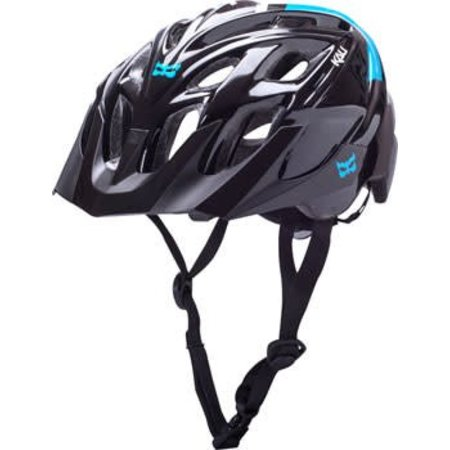 Kali Protectives Chakra Solo Helmet: Neo Black/Blue MD/LG