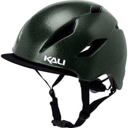 Kali Protectives Danu Helmet: Solid Reflective Emerald Green LG/XL