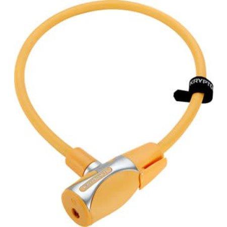 KryptoFlex 1265 Cable Lock with Key: 2.12'x12mm Light Orange