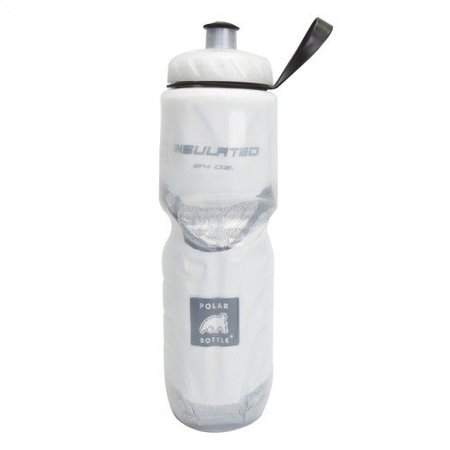 Insulated Water Bottle: 24oz, White