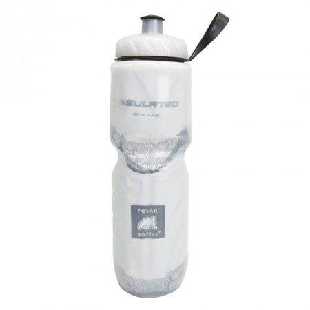 Polar Insulated Water Bottle: 24oz, White