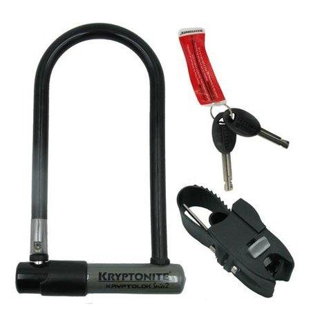 "Kryptonite KryptoLok STD U-Lock with Bracket: 4 x 9"""