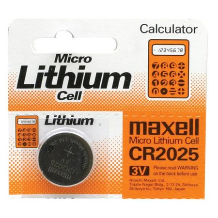Maxell Battery, Micro, Lithium CR2025, 3V
