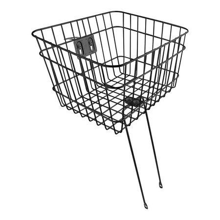 Sunlite Large Basket Front Wire Fixed 14.5x12x9.5 Black HS-Mount w/leggs