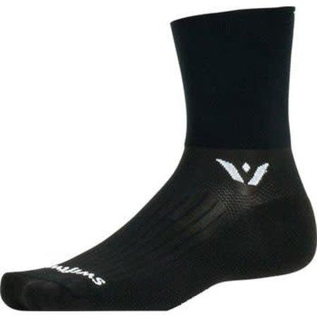 """Aspire 4"""" Cuff Sock: Black"""