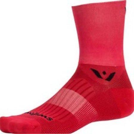 """Aspire 4"""" Cuff Sock: Red"""