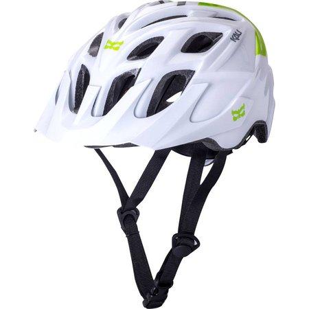 Chakra Solo Helmet: Neo White/Green