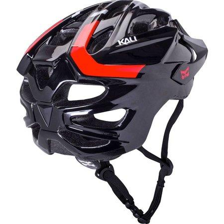 Chakra Solo Helmet: Neo Black/Red