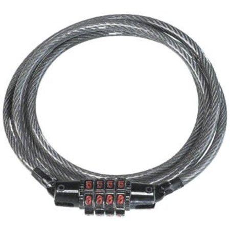 KryptoFlex Keeper 512 4-Digit Combo Cable Lock: 4' x 5mm