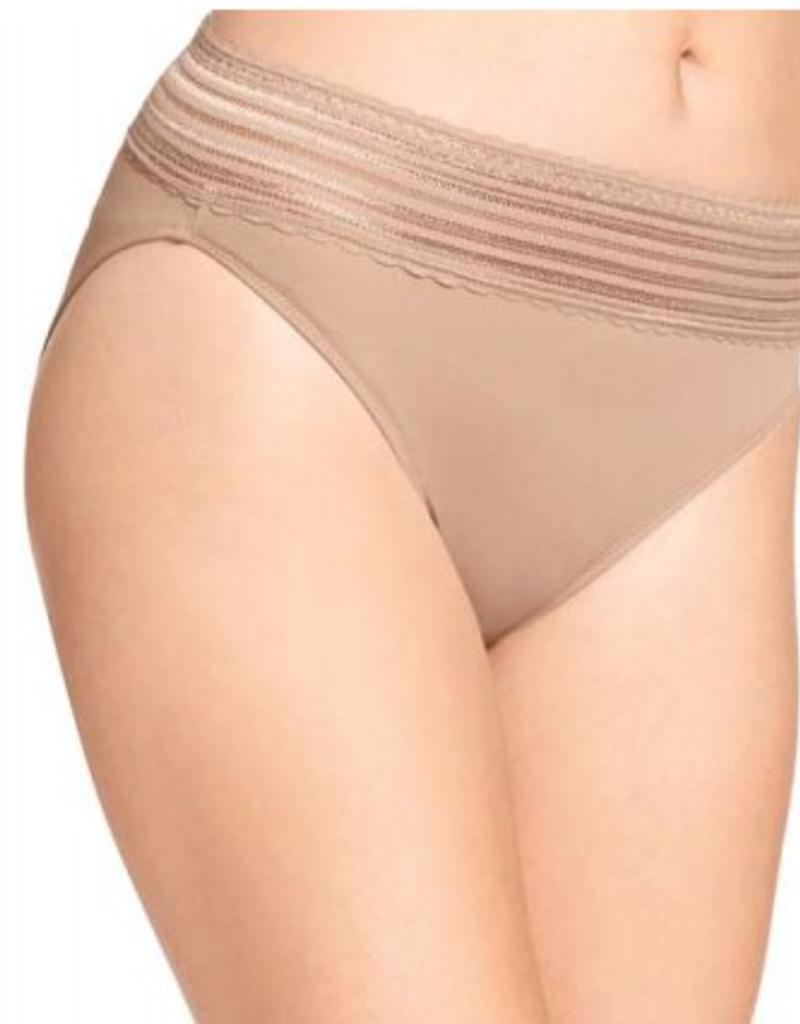 Warners No Pinching. No Problems.® Hi-cut Brief With Lace STYLE #5109